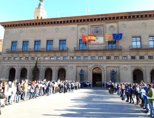 Concentración del Tercer Sector ante la falta de presupuestos Municipales en Zaragoza