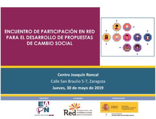 Inscripciones «Encuentro de Participación en RED para el desarrollo de propuestas de cambio social»