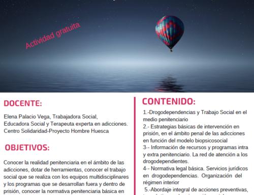Huesca acogerá el taller «Intervención Social en drogodependencias en prisión»