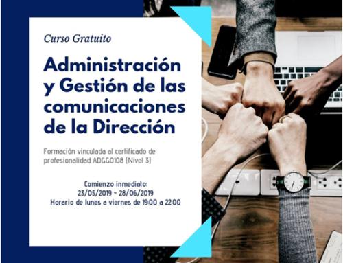«Administración y gestión de las comunicaciones de la dirección» curso gratuito de mano del Patronato NSD