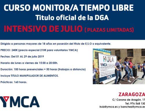 YMCA ofrece curso intensivo de monitor/a de tiempo libre en julio