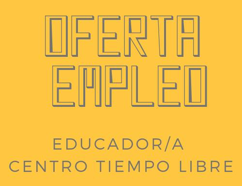 Fundación María Auxiliadora busca educador/a para su centro de tiempo libre