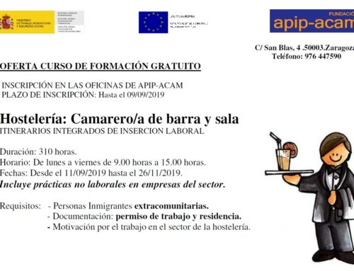 Curso de Camarero/a en Barra y Sala · comienzo septiembre