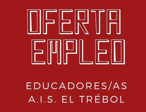 Oferta de empleo educadores/as para Asociación El Trébol