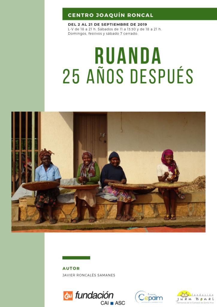 """Exposición """"Ruanda, 25 años después"""""""