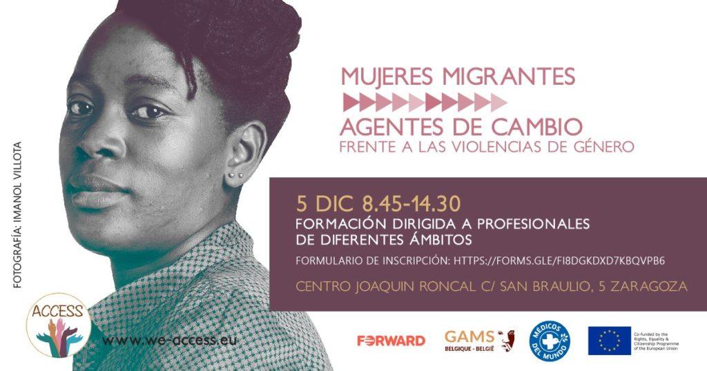 """Formación Médicos del Mundo """"Mujeres migrantes, agentes de cambio frente a las violencias de género"""" @ Centro Joaquín Roncal [Zaragoza]"""