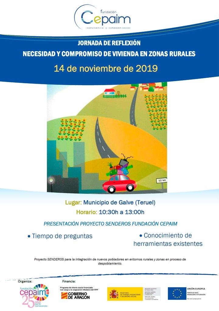 """Jornada de reflexión """"Necesidad y compromiso de Viviendas en Zonas Rurales"""" Fundación Cepaim @ Galve [Teruel]"""