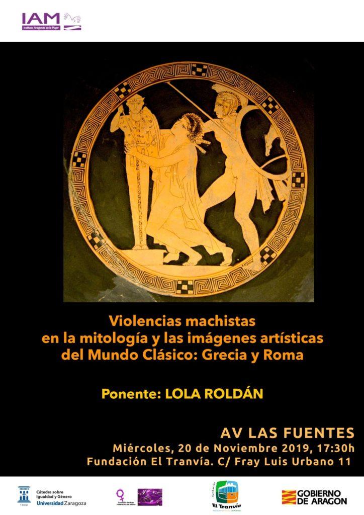 """Conferencia: """"Violencias machistas en la mitología y las imágenes artísticas del mundo clásico. Grecia y Roma"""" @ Fundación El Tranvía"""
