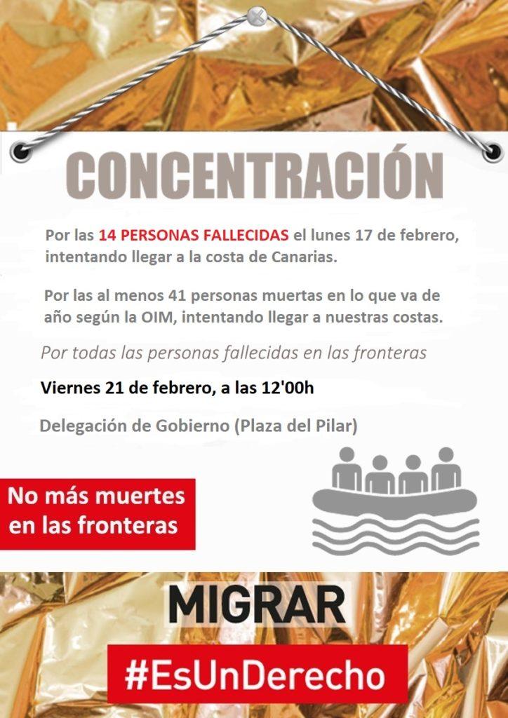 Concentración 5 minutos de silencio #migraresunderecho