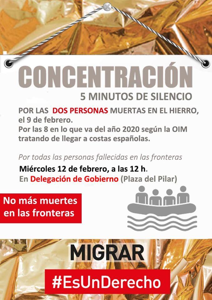 Concentración 5 minutos de silencio #Migrar es un derecho